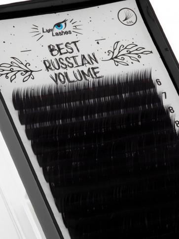 """Best Russian Volume"" 18 STRISCE B-curl nere"