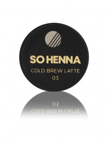 SO HENNA Brow Henna Colore - 03 Cold Brew Latte