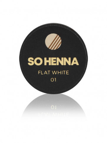 SO HENNA Brow Henna Colore - 01 Flat White