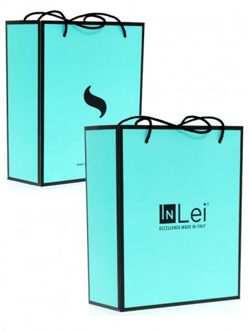 InLei borsetta di carta DeLuxe con stampa personalizzata del Brand