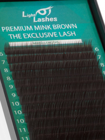 Mink Exclusive chocolate brown B-curl