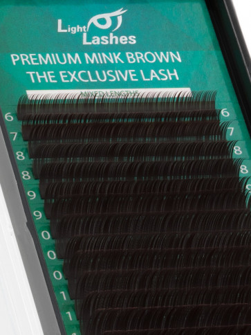Mink Exclusive chocolate brown C-curl