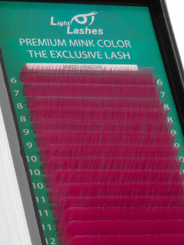 Mink Exclusive dark pink B-curl