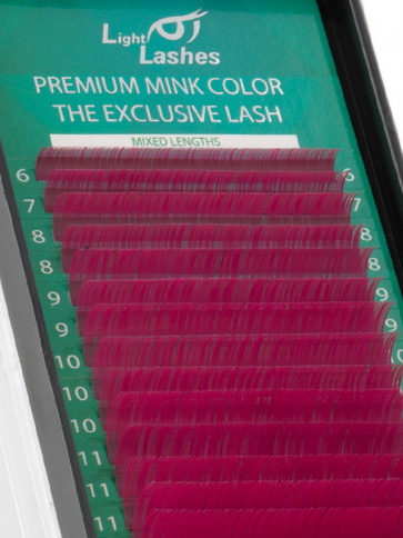 Mink Exclusive dark pink C-curl