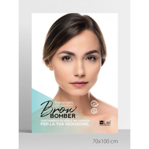 "InLei poster ""BROW BOMBER"" 70x100"